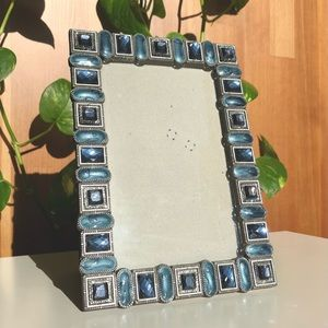 SHEFFIELD HOME Blue Jewel Picture Frame Free Stand